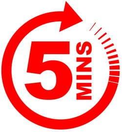 5 minutes 1 à 4 fois par heure maximum suffisent